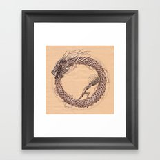 The Ouroboros / Uroboros and Sisyphus Framed Art Print