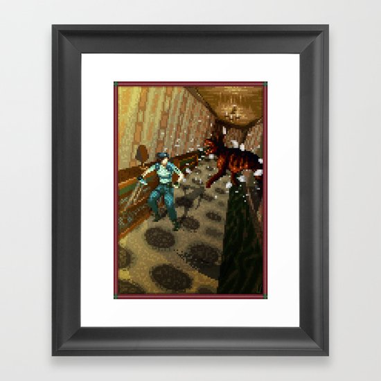 Pixel Art series 10 : Dogs Framed Art Print