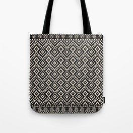 B&W Boho Moroccan Geomitrec Farmhouse Rustic Style Design Tote Bag