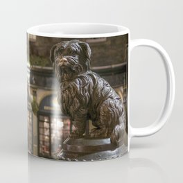 Bobby Greyfriars dog statue at night Edinburgh Scotland pub Coffee Mug
