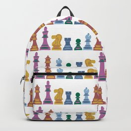 colorful chess pieces Backpack