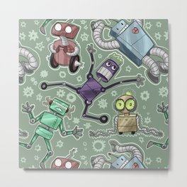 Robo Metal Print