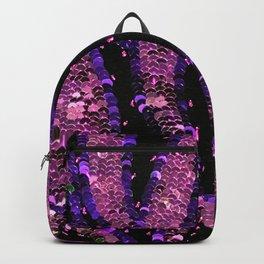 Hot Pink Purple Sequin Backpack