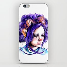 Dolls in her hair, Forest of Dolls Collection iPhone Skin
