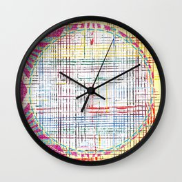 The System - pink motif Wall Clock