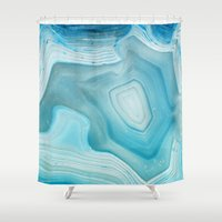 minerals Shower Curtains featuring THE BEAUTY OF MINERALS 3 by Catspaws