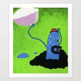 Shy Ronnie Art Print