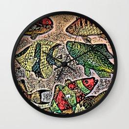 Fish Magnets Wall Clock