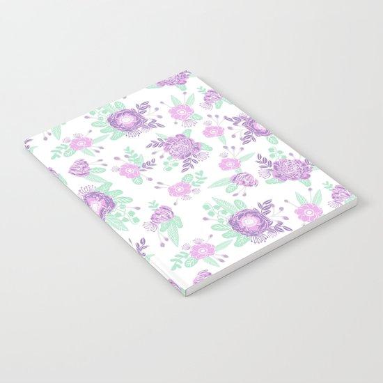 floral pattern minimal painted nursery mint and purple