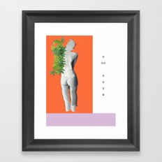ooze. Framed Art Print