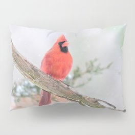 """Say What?"" (Northern Cardinal) Pillow Sham"