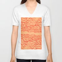 cars V-neck T-shirts featuring Cars by David King