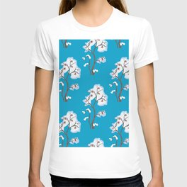 Cute Seamless Pattern With Forest Trees. Scandinavian Style T-shirt