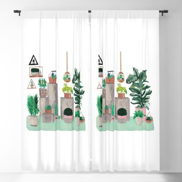 Plants Blackout Curtain