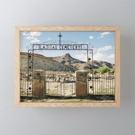 Lajitas, Texas Framed Mini Art Print