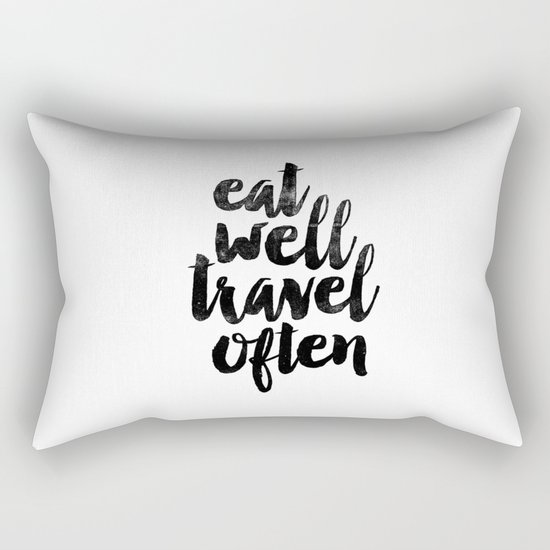 Eat Well Travel Often black and white typography poster black-white design bedroom wall home decor by themotivatedtype