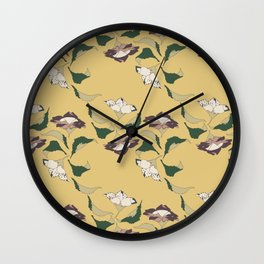 Bellflower and Dragonfly Wall Clock