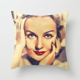Carole Lombard, Hollywood Legend Throw Pillow