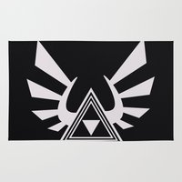 triforce Area & Throw Rugs featuring triforce by Black