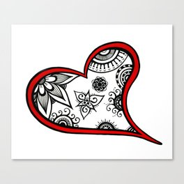 Tangled heart Canvas Print