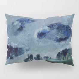 Mists in the Blue Mountains, Twilight landscape by Mikalojus Konstantinas Ciurlionis Pillow Sham