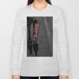 Hotel in Genova Black and White Photography Italy Long Sleeve T-shirt