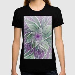 Flower Dream, Abstract Fractal Art T-shirt