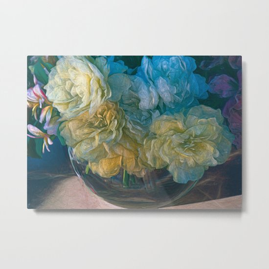 Vintage Still Life Bouquet Metal Print