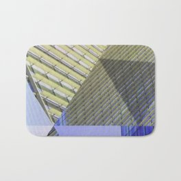 Architectural Triangles Abstract Design Bath Mat