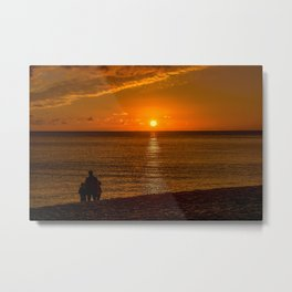 Watching the Sunset 2 Metal Print