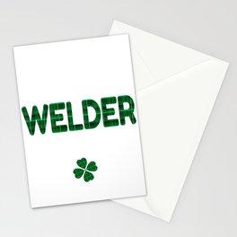 Luckiest Welder Ever St. Patricks Day Lucky Irish Stationery Cards