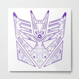 Decepticon Tech Purple Metal Print