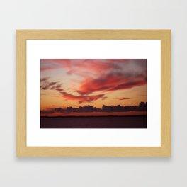 Sultry sunset Framed Art Print