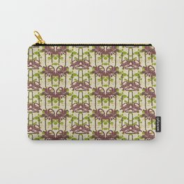 Modern Foral Chevron Carry-All Pouch