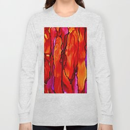 Reverie in Red Yellow and Violet Long Sleeve T-shirt