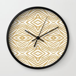 Putty Neutral Zebra Wall Clock