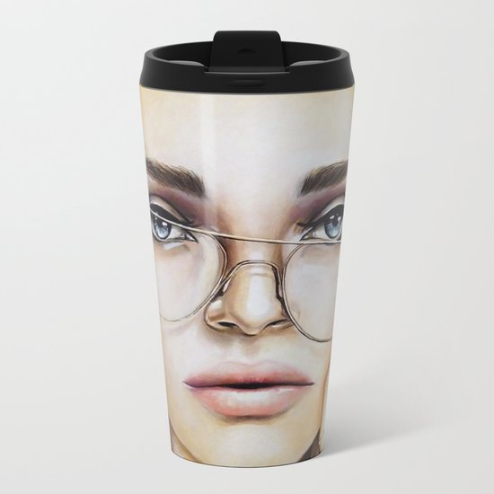 Face for NYC Metal Travel Mug