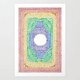 Rainbow Dot Mandala Art Print