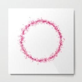 Pink fuzzy ring Metal Print