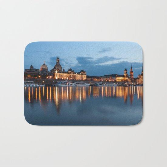 Dresden skyline, City, Germany, Cityscape blue hour Bath Mat