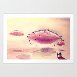 Heavy Clouds Art Print