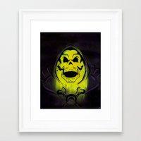 skeletor Framed Art Prints featuring Skeletor by Barry Neeson