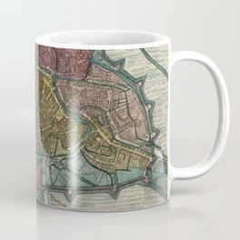 Vintage Map of Ghent Belgium (1780) Coffee Mug