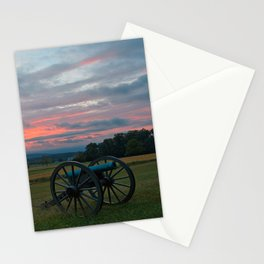 Gettysburg Cannon Sunset Stationery Cards