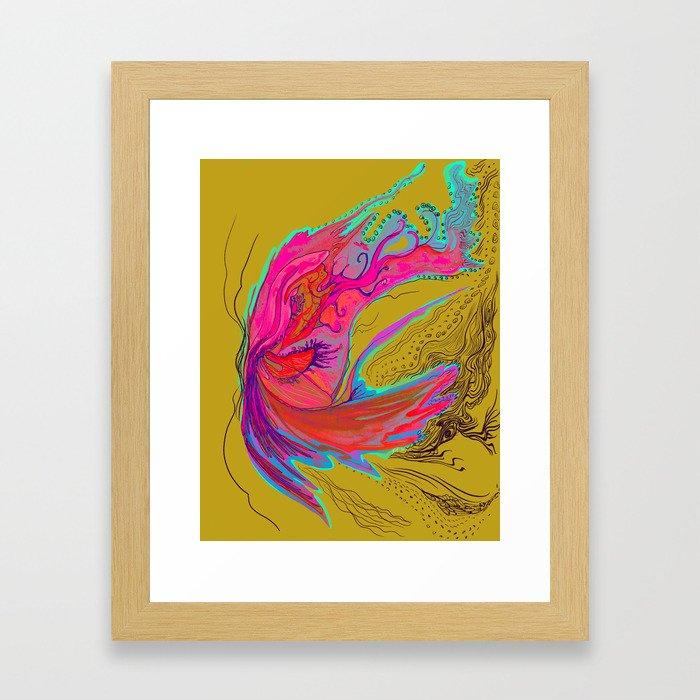 Metamorphosis with me-chartreuse Framed Art Print