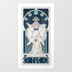 Yue Nouveau Art Print