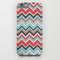 Aztec chevron pattern- grey iPhone 6s Slim Case