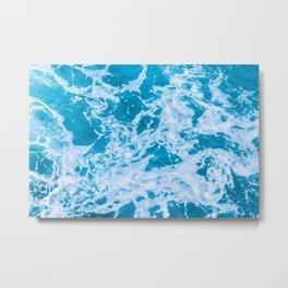 Turquoise Teal Waves Summer Beach Metal Print