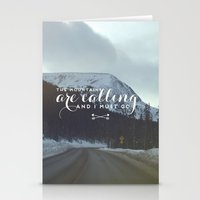the mountains are calling Stationery Cards featuring The Mountains Are Calling... by E. Phillips - Creative Designer