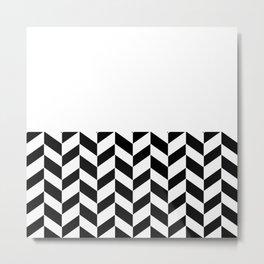 MODERN DESIGN (BLACK-WHITE) Metal Print